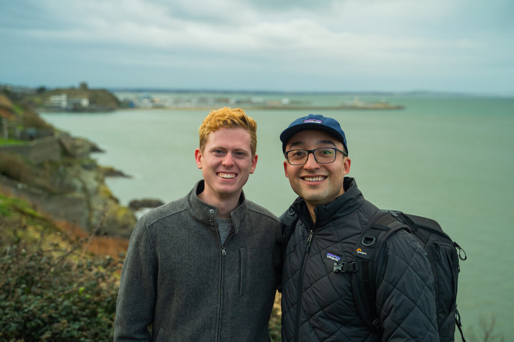 Nate Medina and Carl in Howth